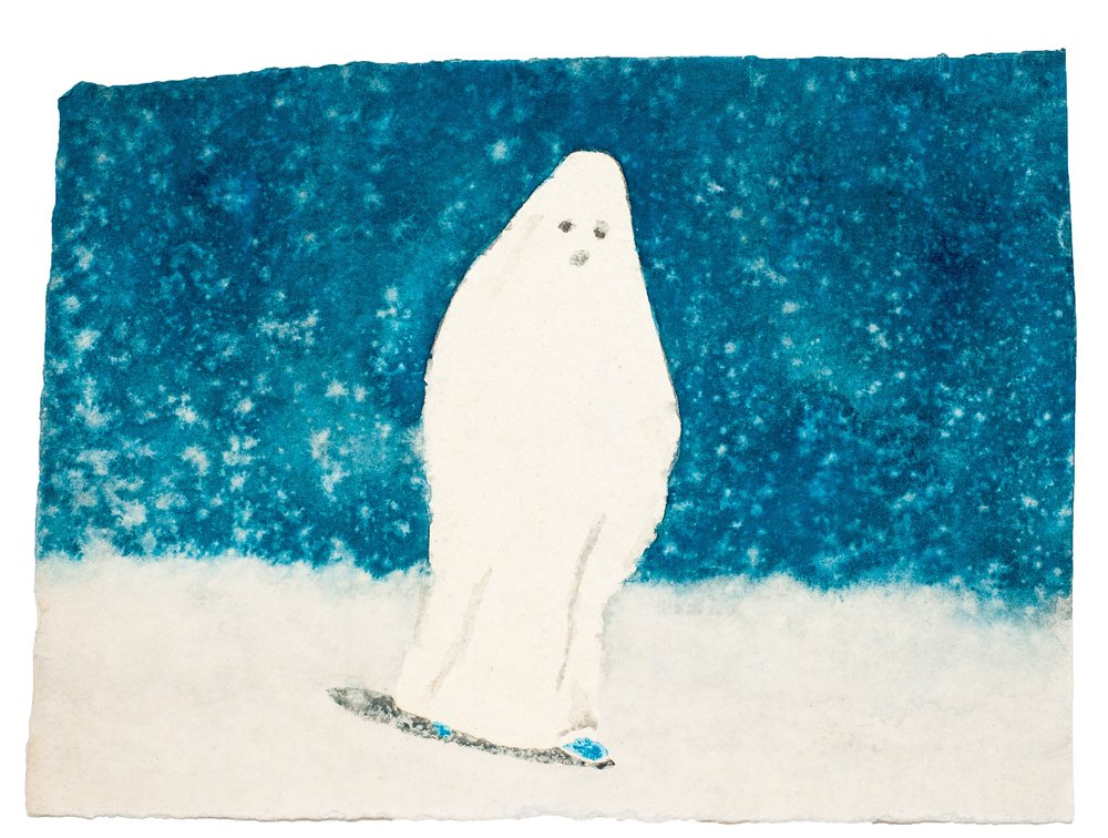 James Rielly  Small Ghost  2014 watercolour on paper 28 x 38 cm © courtesy of the artist & galerie l'inlassable