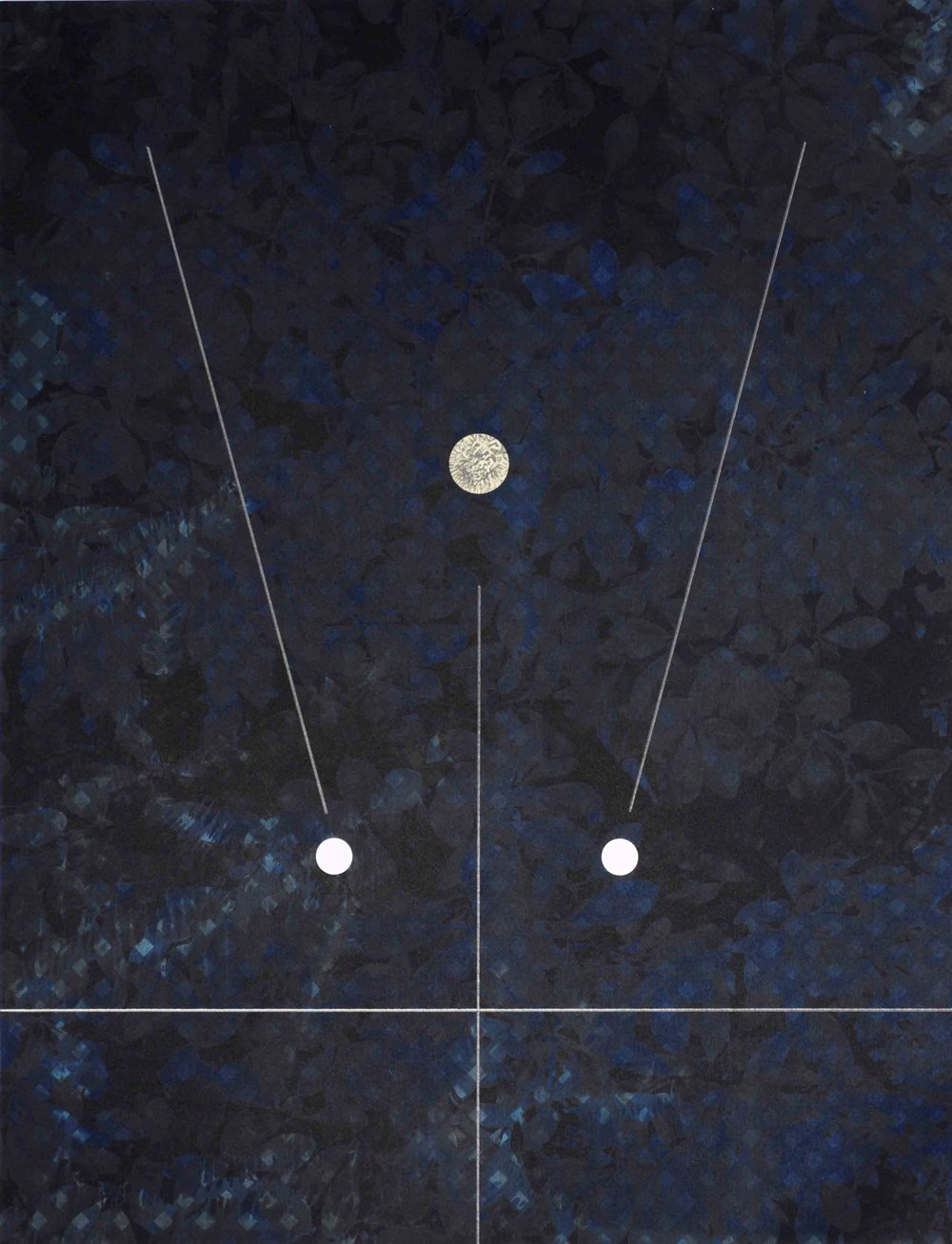 Charlie Boisson  kaya sthairyam  2016 cyanotype, tirage numérique, graphite 26 x 33,8 cm © courtesy of the artist & galerie l'inlassable