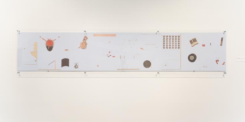 Anne Deleporte  Einstein, Marx & Matisse  2013 exhibition view at Queens Museum New York (US)