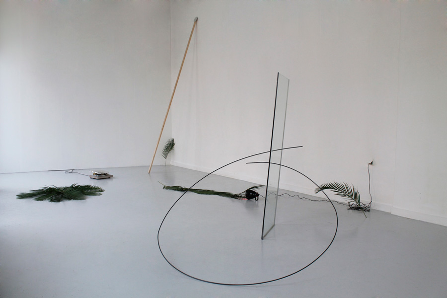 Célia Gondol  Jonction  2014 In collaboration with Paul Lahana, glass, steel 250 x 200 x 200cm