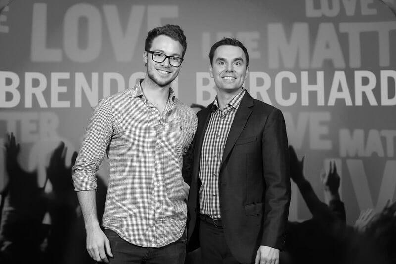 Niklas Eller mit seinem Mentor, Brendon Burchard