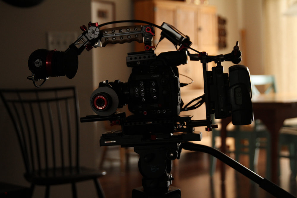 I use the  Digital 90  to simultaneously power my  C300 MkII  and the  Zacuto Gratical Eye .