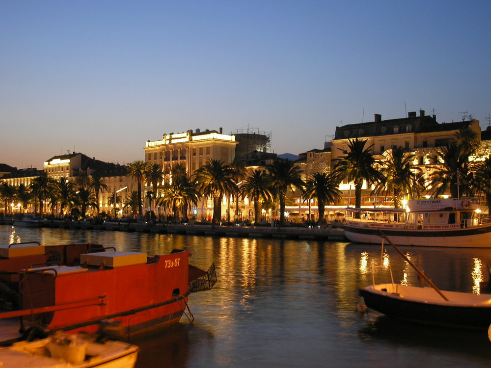 Croatia - Split at night.JPG