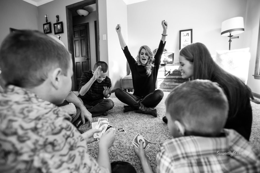 Yep. That's me, in my most unfiltered celebratory status--beating my kids at UNO. This is how I look every time I celebrate a victory with a client. So yeah, WOOHOO!