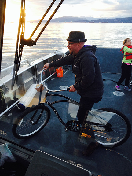 Our decks are so big you can go for a bike ride on them!