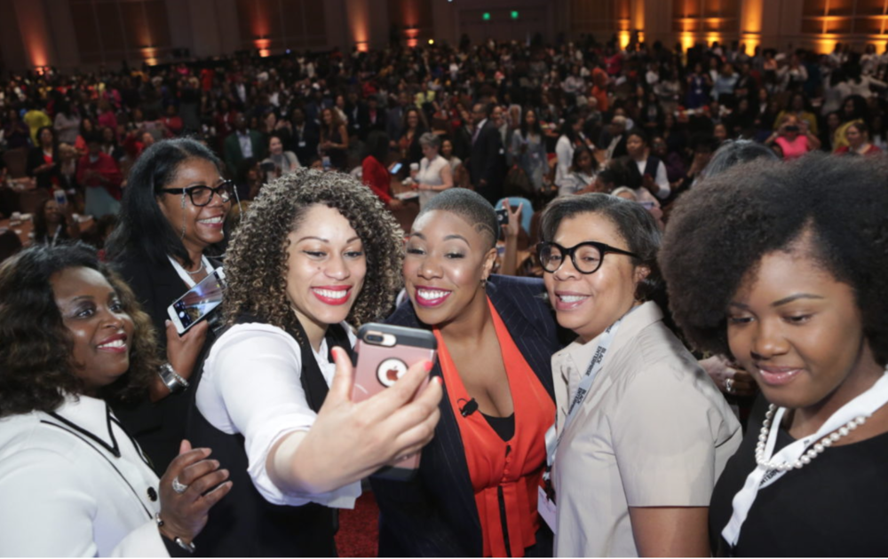 Founder Yolande Morris at BE's Women of Power Summit — click the link for the official recap.