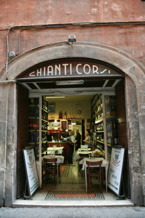 Just steps away from the Pantheon is Enoteca Corsi, a small little restaurant with a large wine selection. It's true, wine does cost less than water in Italy!