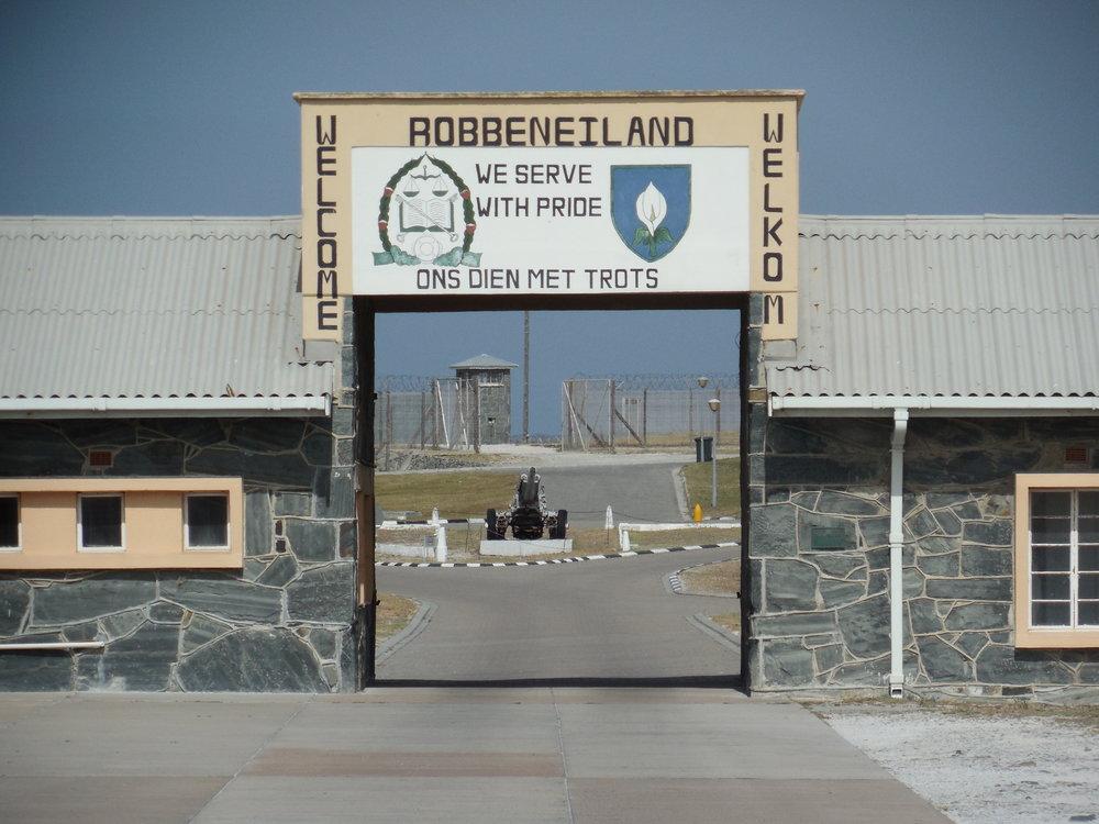 The main entrance to Robben Island