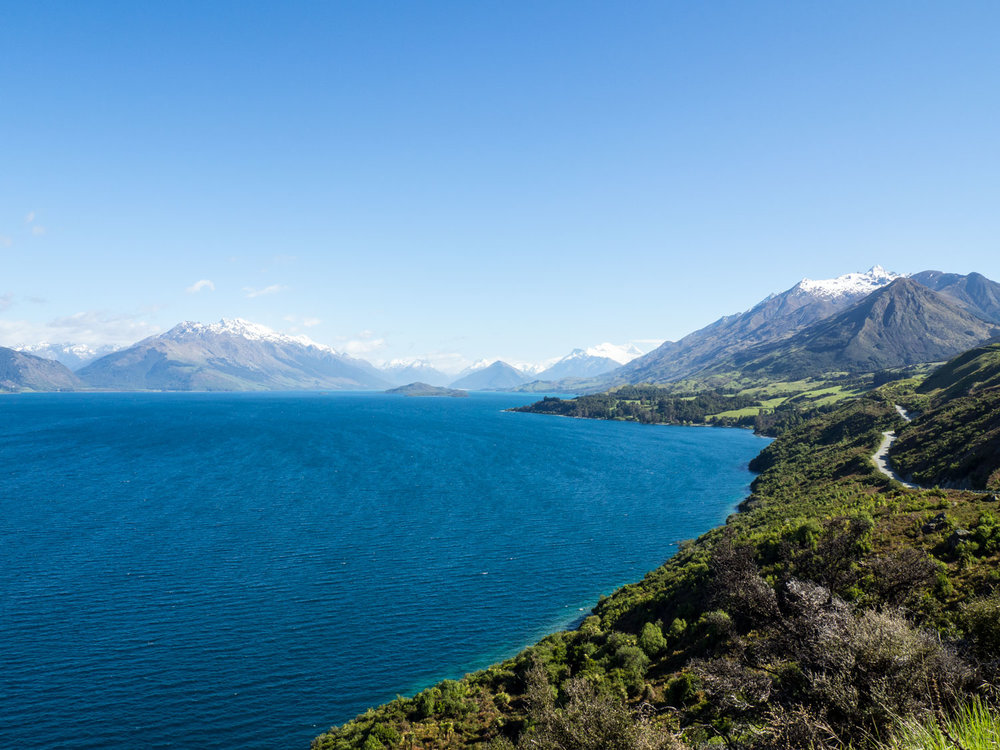 The drive from Queenstown to Glenorchy (road to the right) was one of our favorite experiences so far.