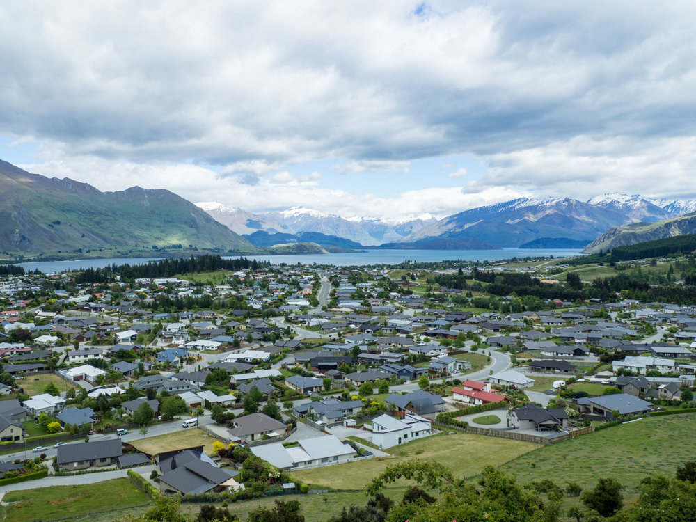 On the way to Franz Josef we stopped in Wanaka to hike Mt. Iron. Great views from the top!