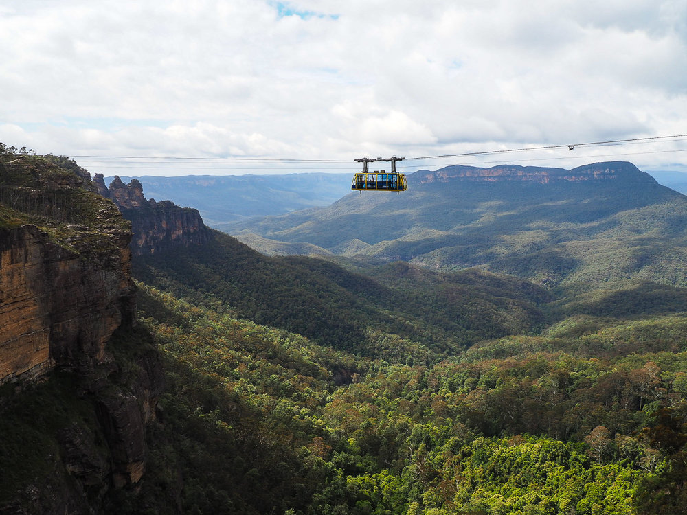 Cable Car over Blue Mountains - How to See Sydney in 72 Hours Part 3 - The Kenney Way