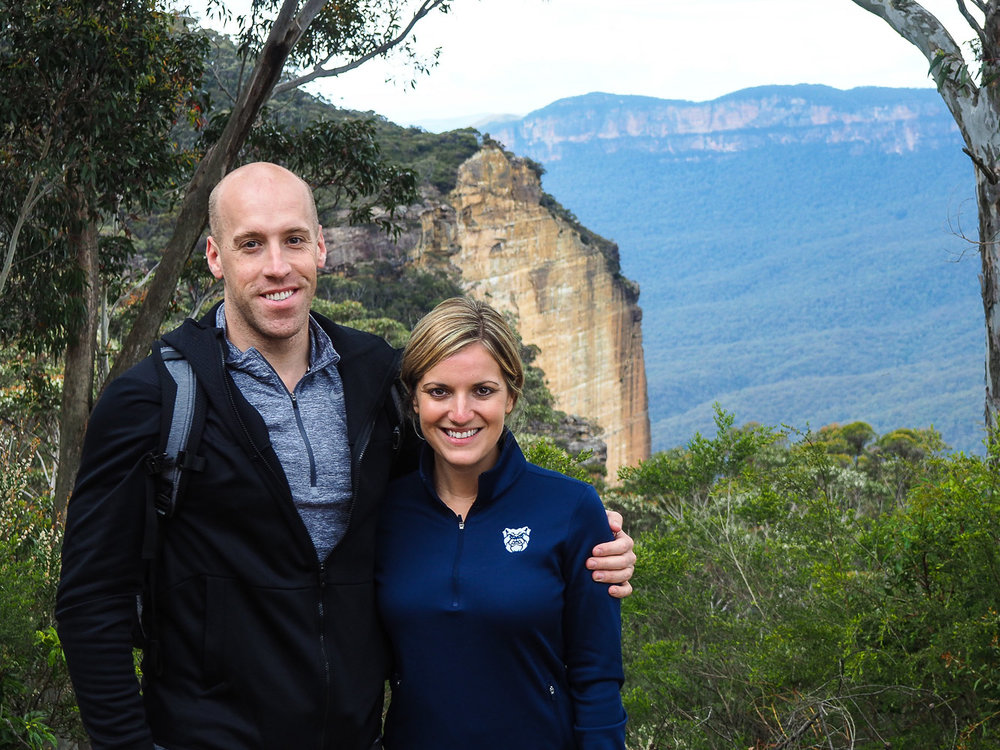 Ben and Emily Blue Mountains Close Up - How to see Sydney in 72 Hours Part 3 - The Kenney Way