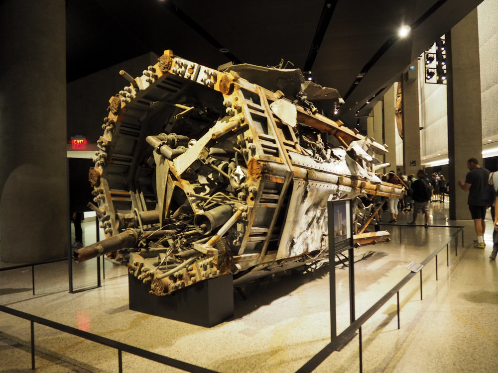 A fragment of the transmission that was stop the North Tower. This fragment is just 1/20 of the entire structure.