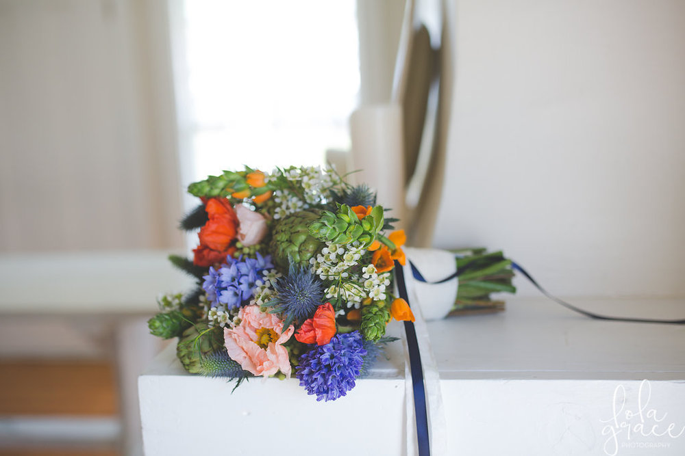 April Poppy and Hyacinth Bridal Bouquet