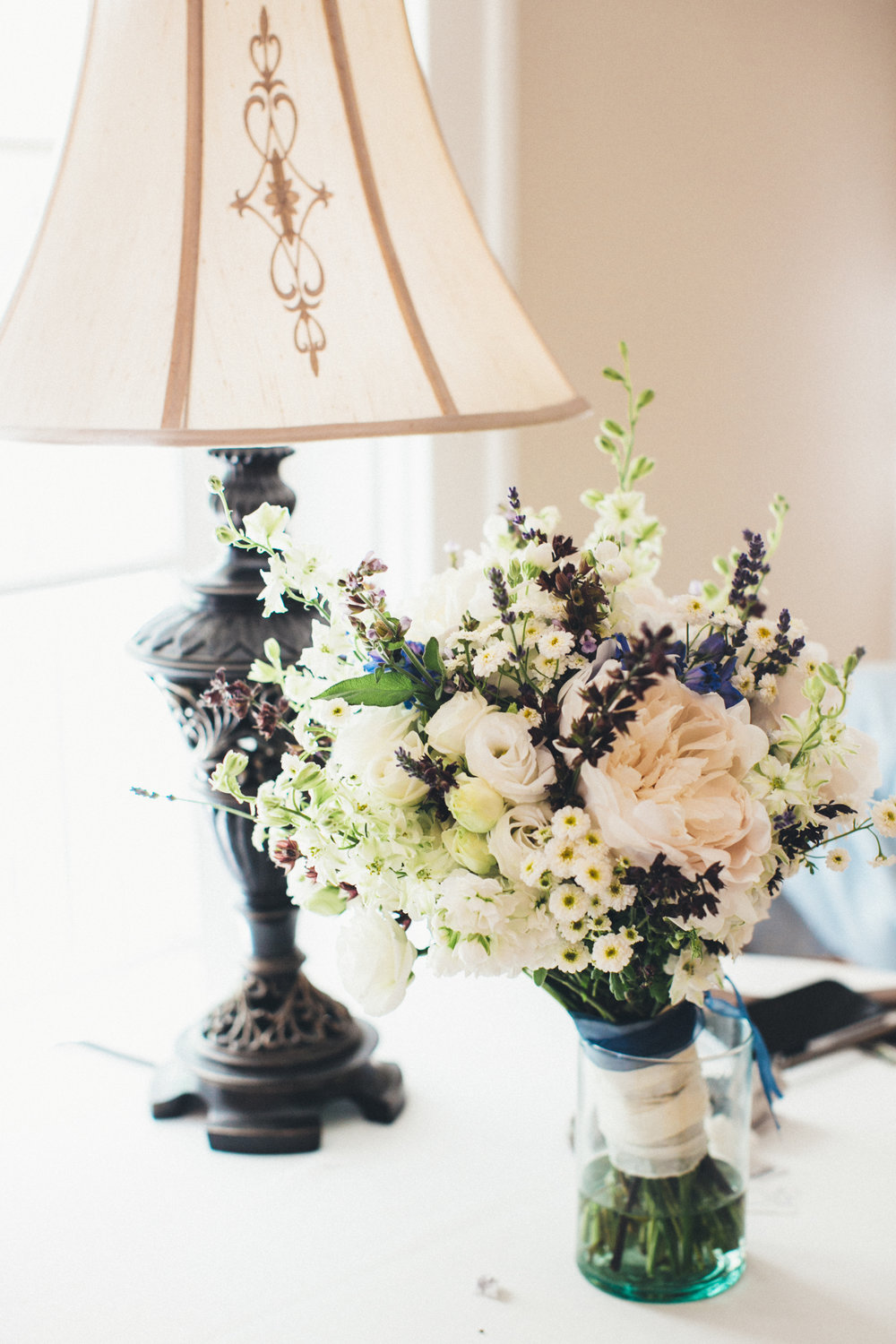 Delphinium and Peony Bridal Bouquet May