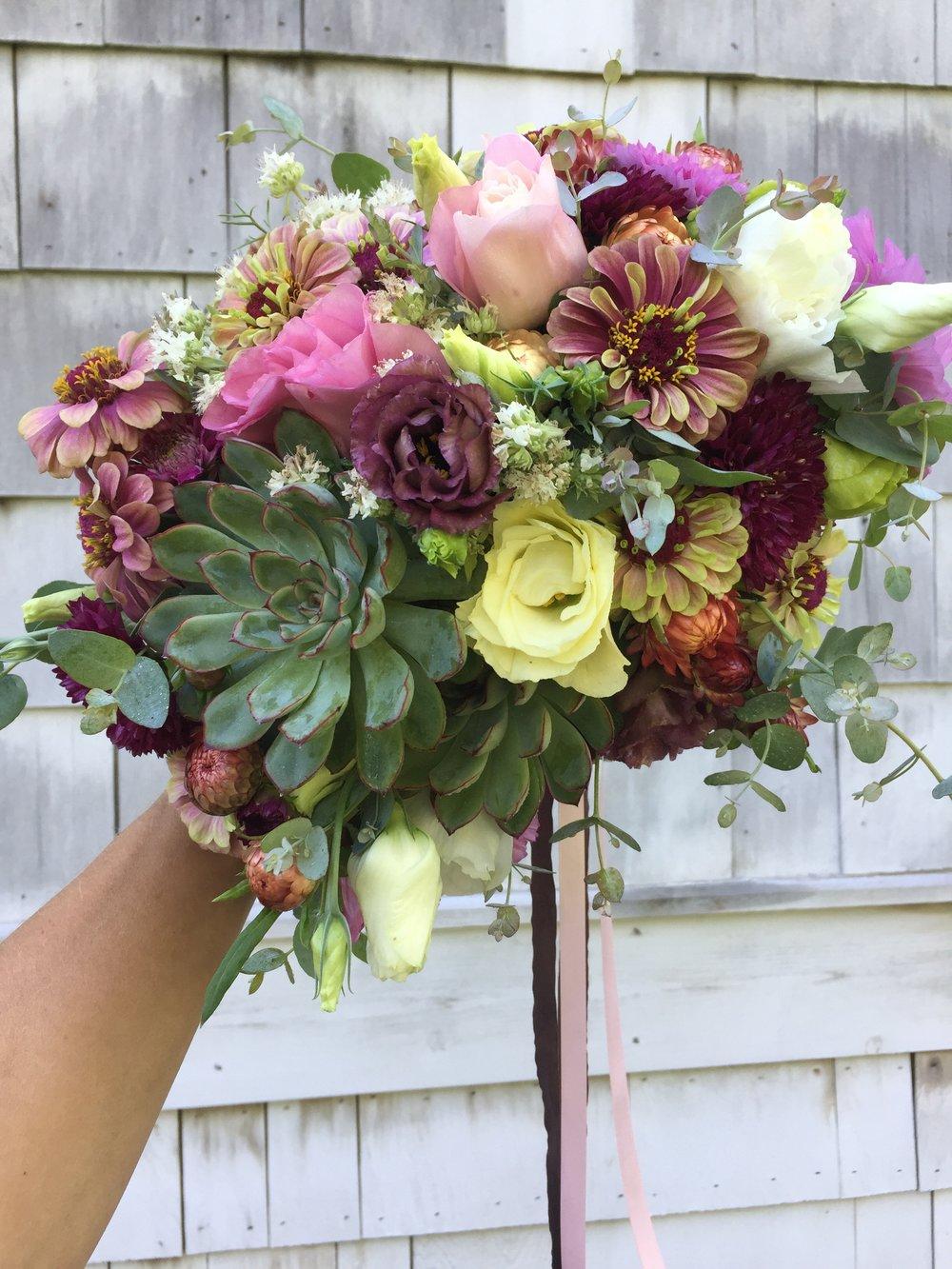 Succulent Summer Bridal Bouquet