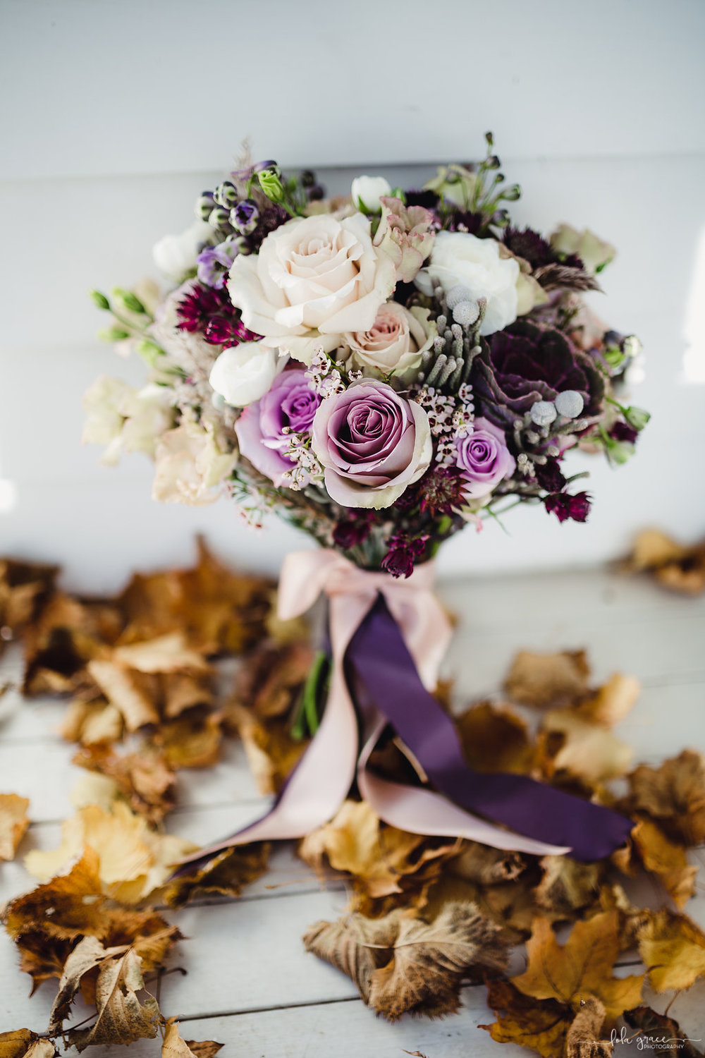 Fall Mauve and Cream Bouquet