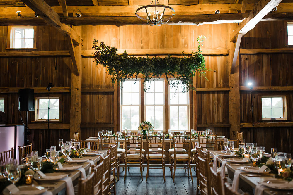 Head Table Greenery Chandelier