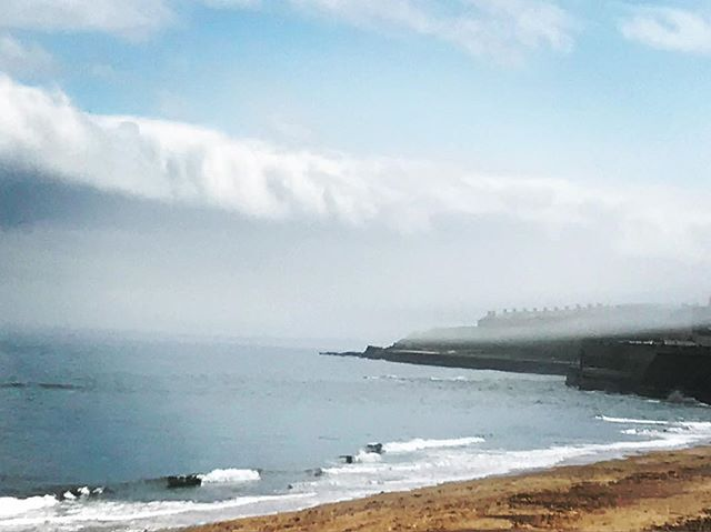 Morning mist in Whitley Bay near Newcastle.