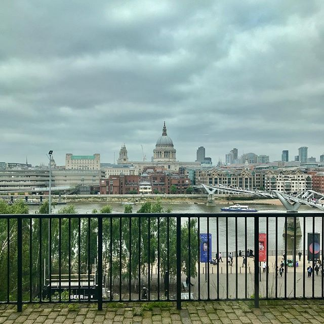 A lovely view of St Paul's Cathedral from the Tate Modern building.