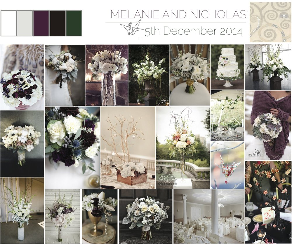 Styling & Wedding Flowers by Jessica Charlotte Simmonds | Mood board Mel & Nick