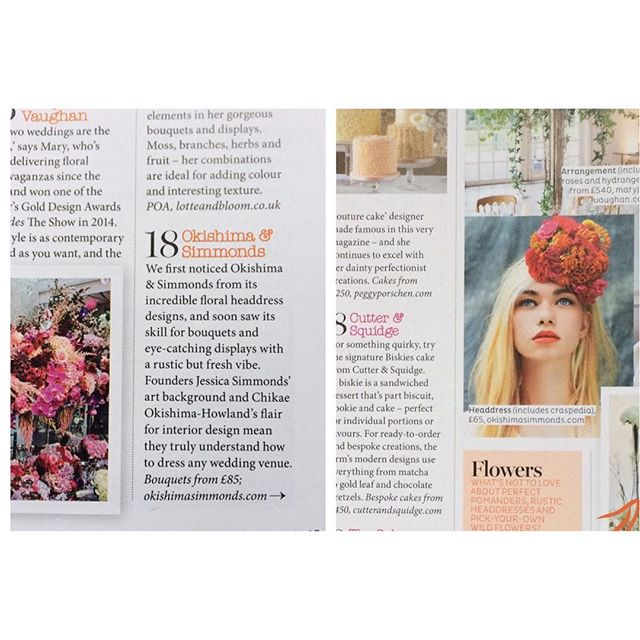 The little feature @chikaeoh & I have in this months @bridesmagazine - we are listed as one of their top suppliers for your wedding this summer! Thank you @brides 💋