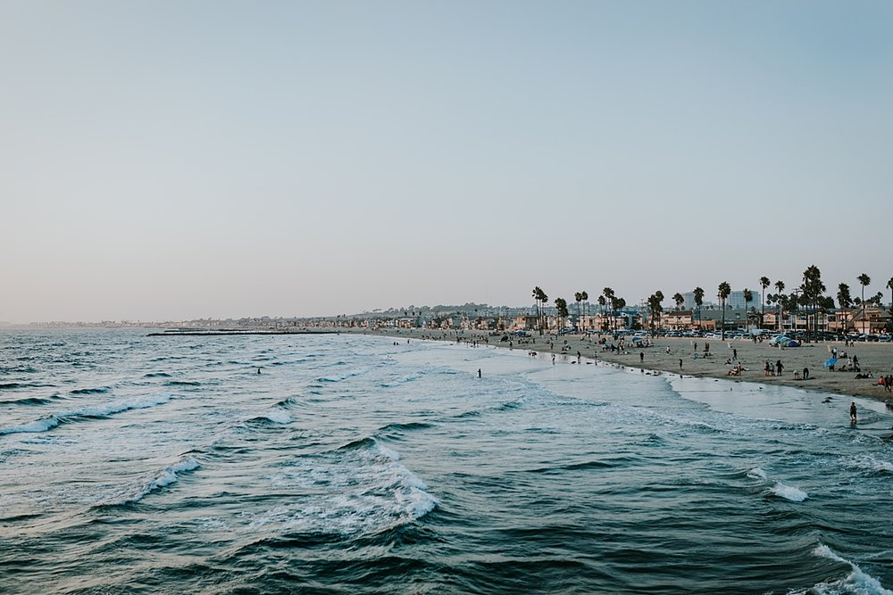 Orange County family photographer. photo of Huntington Beach taken from the Huntington Beach Pier
