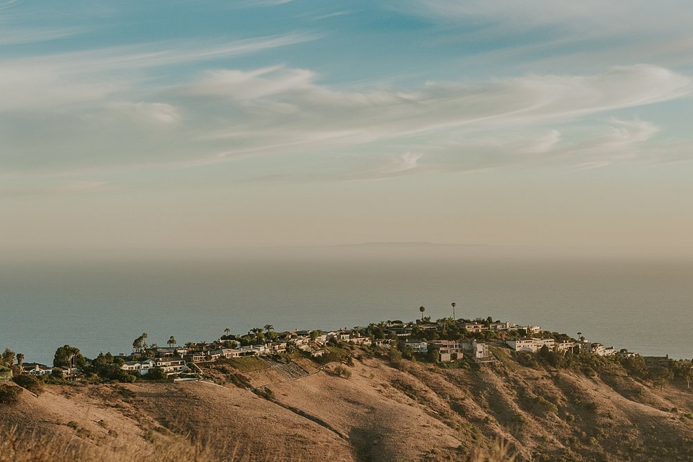 Image taken from scenic lookout at Top of the World Laguna Beach by Krystil McDowall Photography
