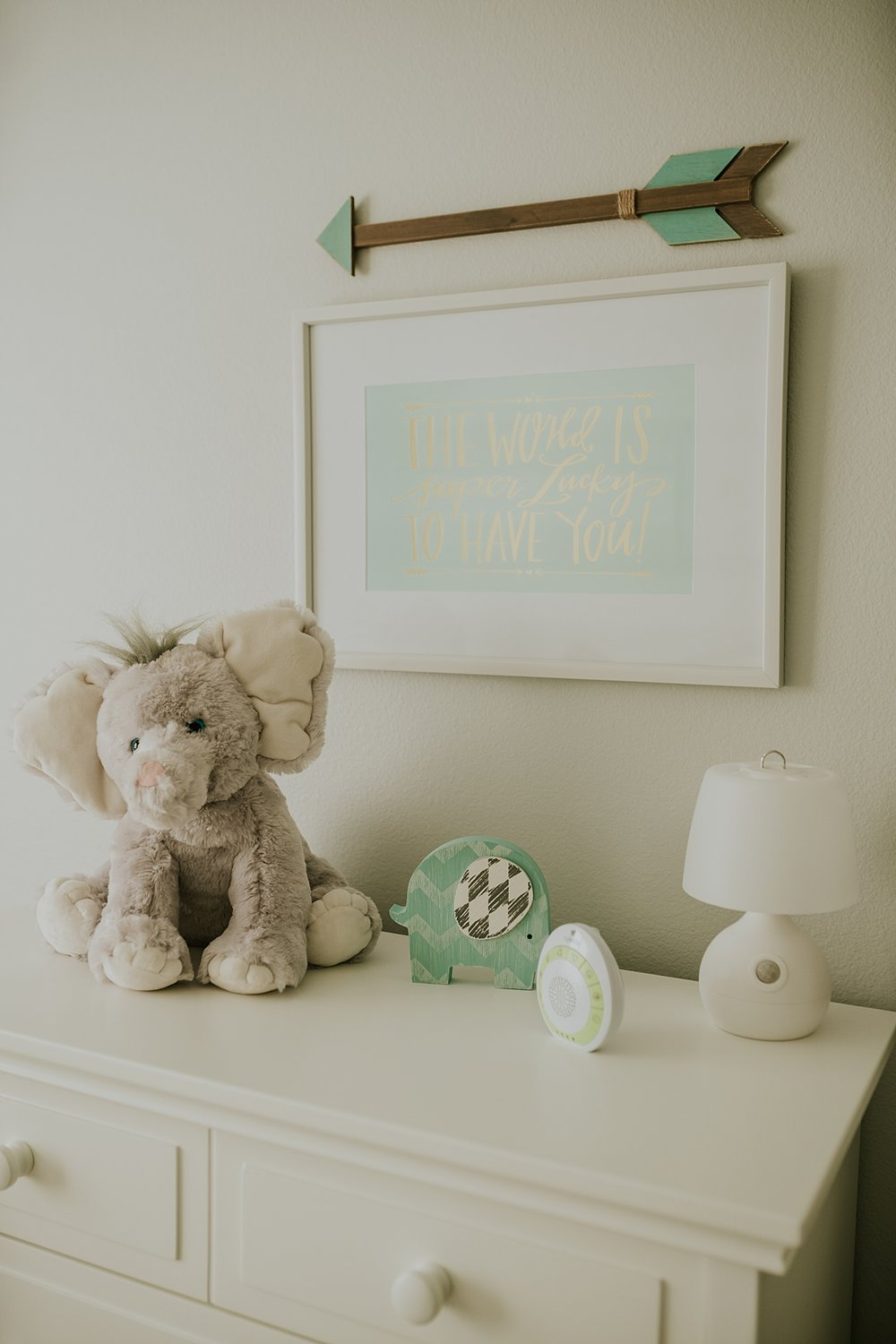 Orange County family photographer. photo of nursery decor in newborn son's room