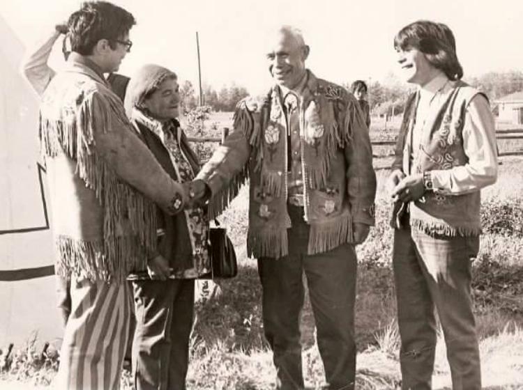 From left to right: Harold Cardinal, Agnes Cardinal, Frank Cardinal, Don Cardinal.
