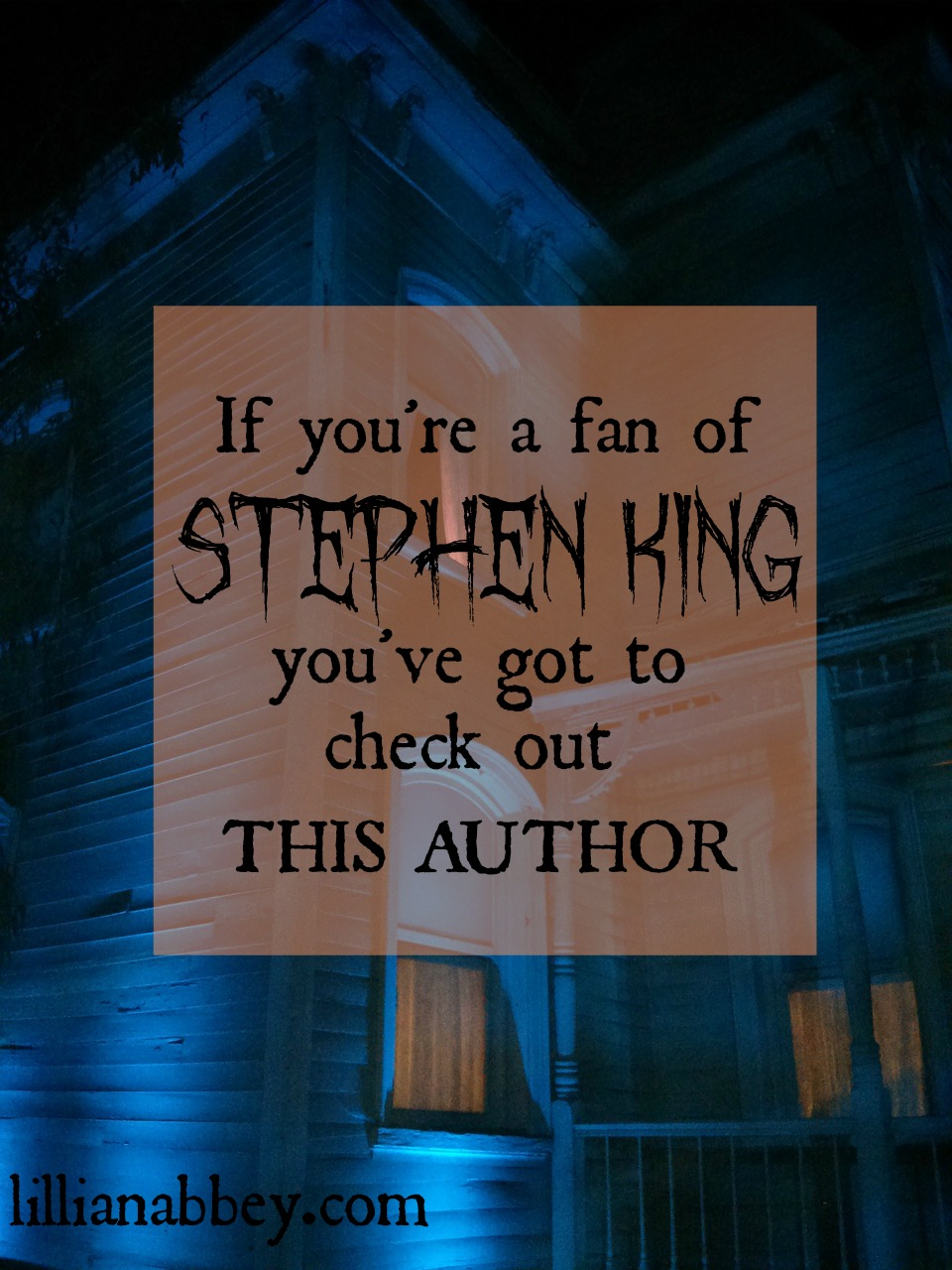 If you love Stephen King, you'll love this author!