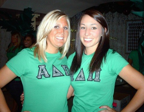 With my roommate during recruitment 2007.  We're still besties!