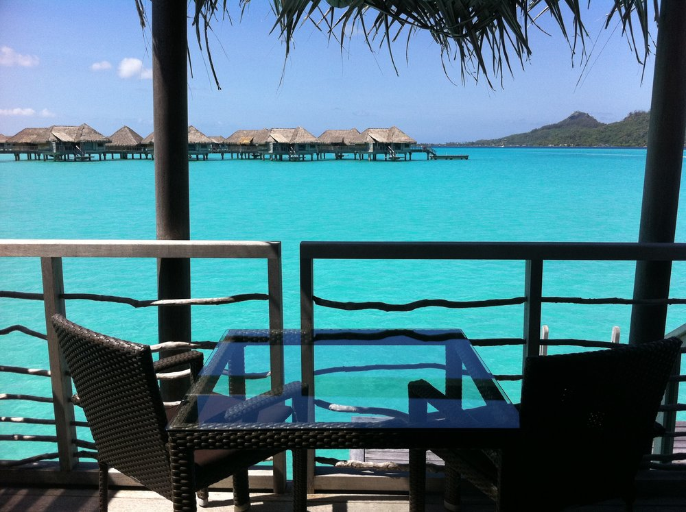 The view from our balcony on our Honeymoon to Bora Bora.  We often dream about the places we'll travel in the future.