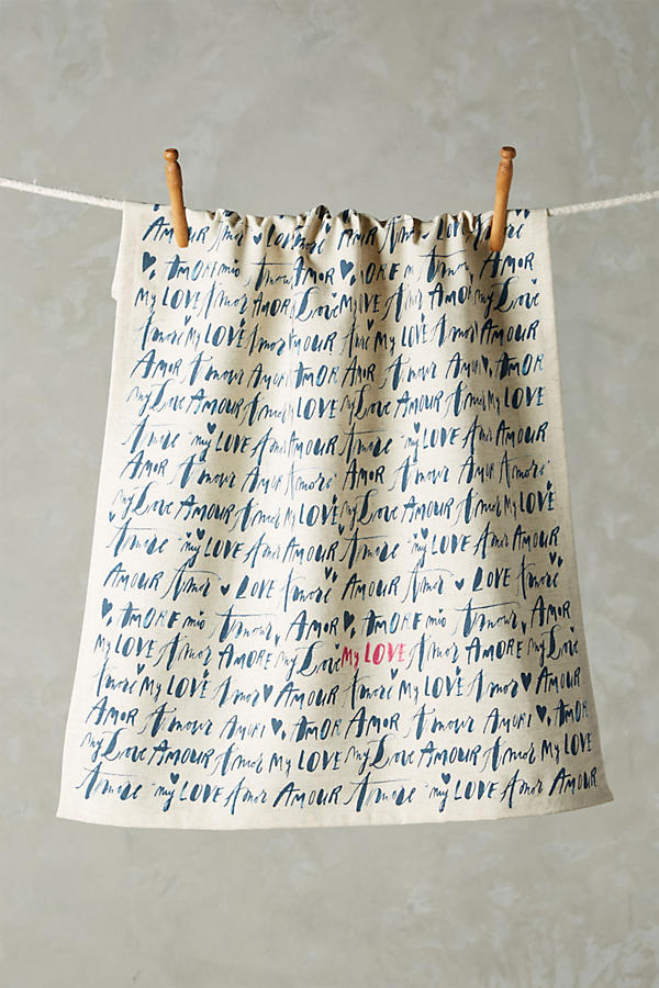 Language of Love Dishtowel