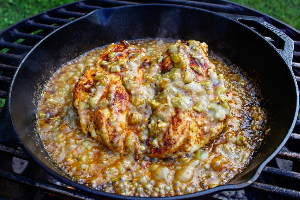 Chicken with the Green Chile Sauce added!