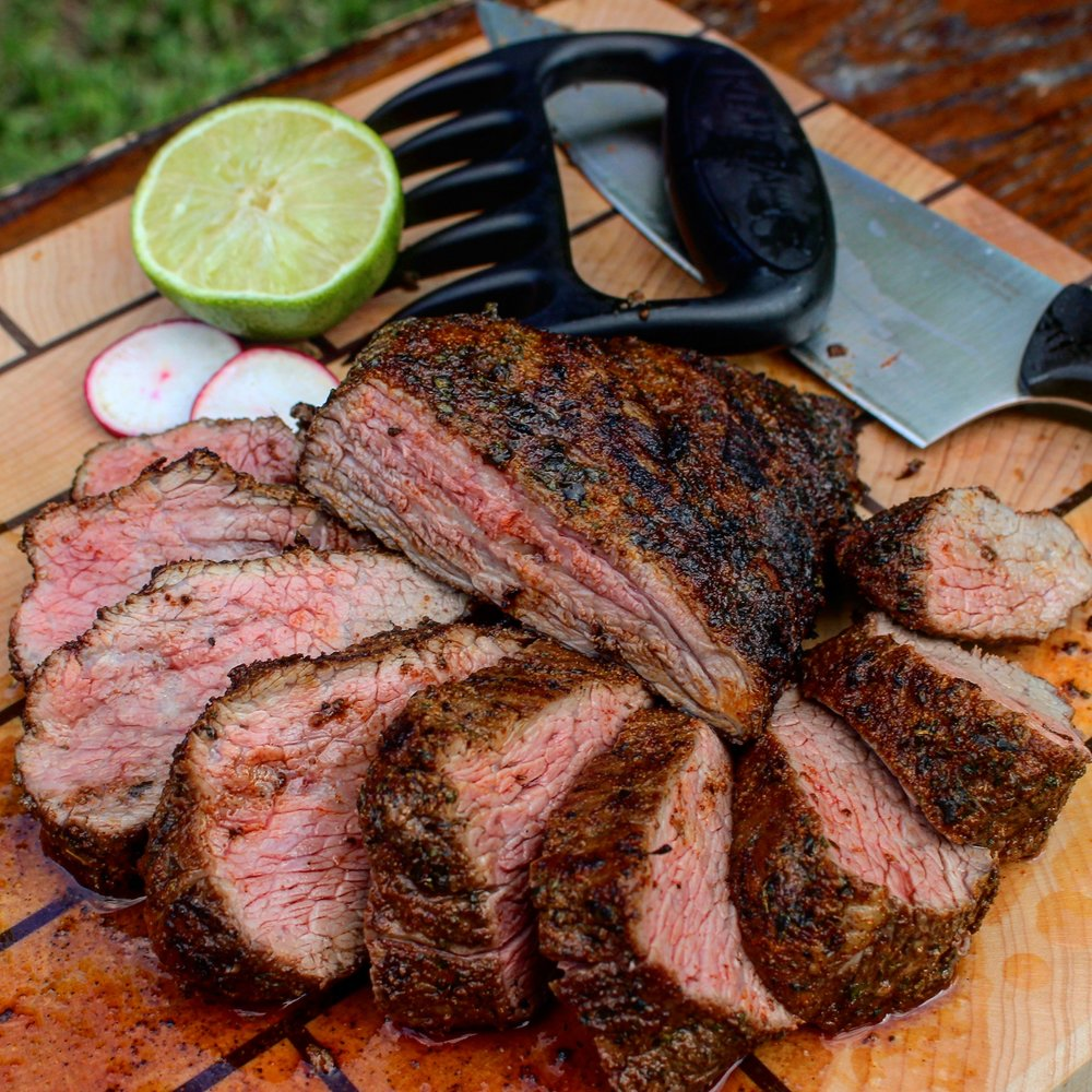 Tri-tip sliced and ready to eat!