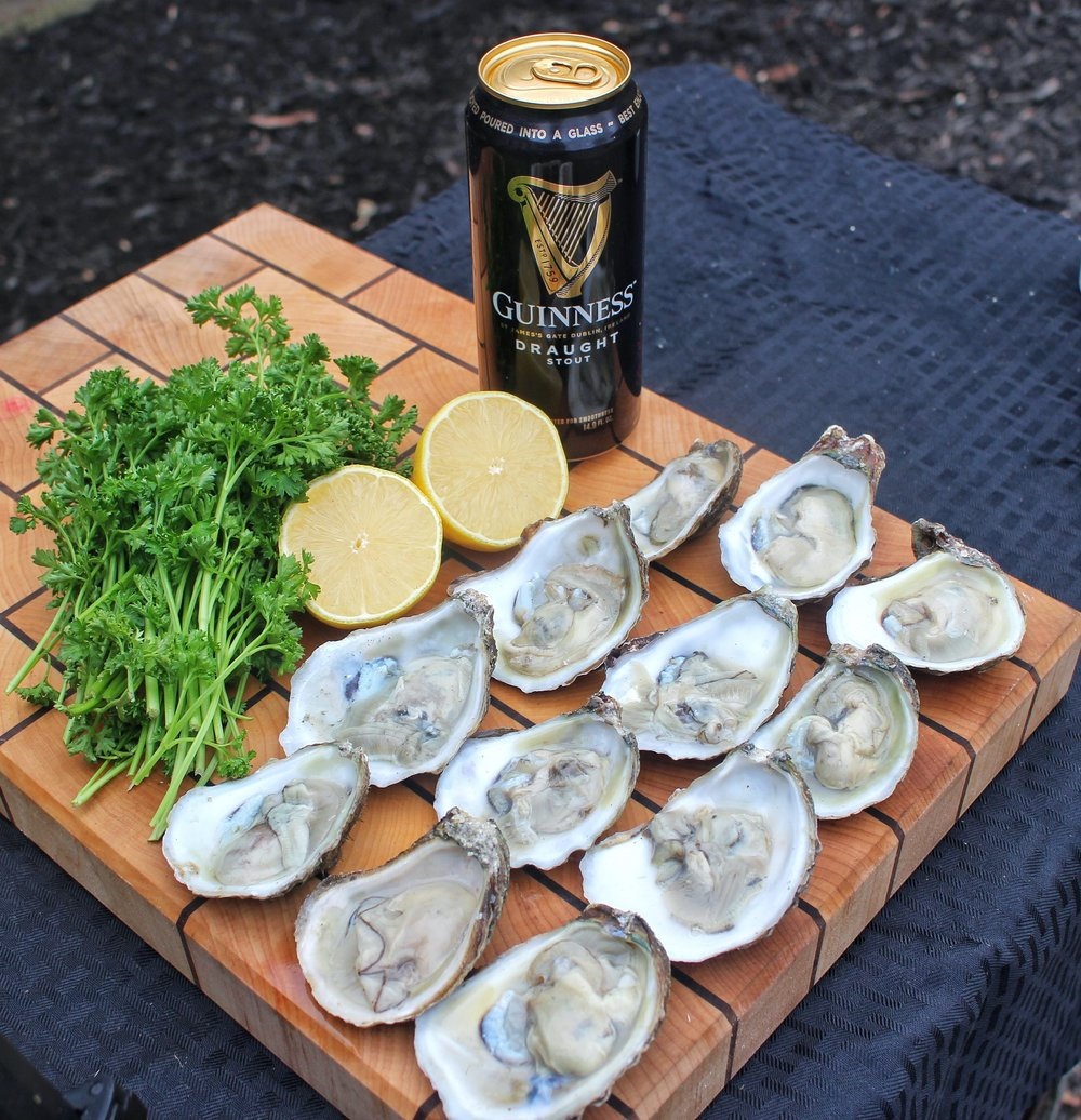 Shucked and ready to cook.