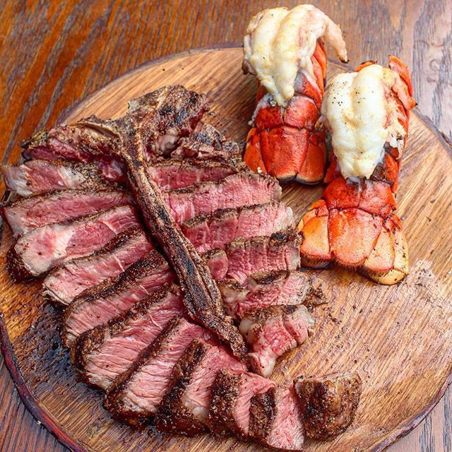 Porterhouse and lobster tails are my weakness... what is yours? 👌 🥩 🔥 Credit: @overthefirecooking #OverTheFireCooking #Grilling #Grill #GrillLife #Meat #MeatLover #Barbecue #EEEEEATS #EatFood #ForkYeah #FoodLover #Foodie #InstaFood #Asado #Churrasco #Braai #Fire #FireCooking #CampCooking #CampFood #CampfireCooking #OutdoorCooking #OpenFireCooking #LiveFireCooking #Steak #Porterhouse #Lobster #LobsterTails