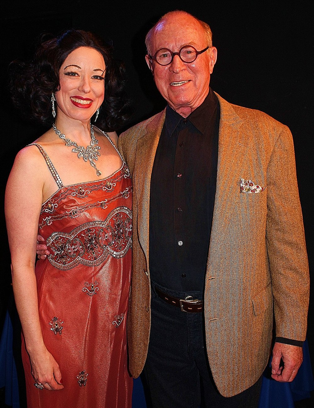 HEDY Press Pic 14 - Heather Massie as Hedy Lamarr with Richard Rhodes, Hedy's biographer - Hedy's Folly: The Life and Breakthrough Inventions of Hedy Lamarr The Most Beautiful Woman in the World