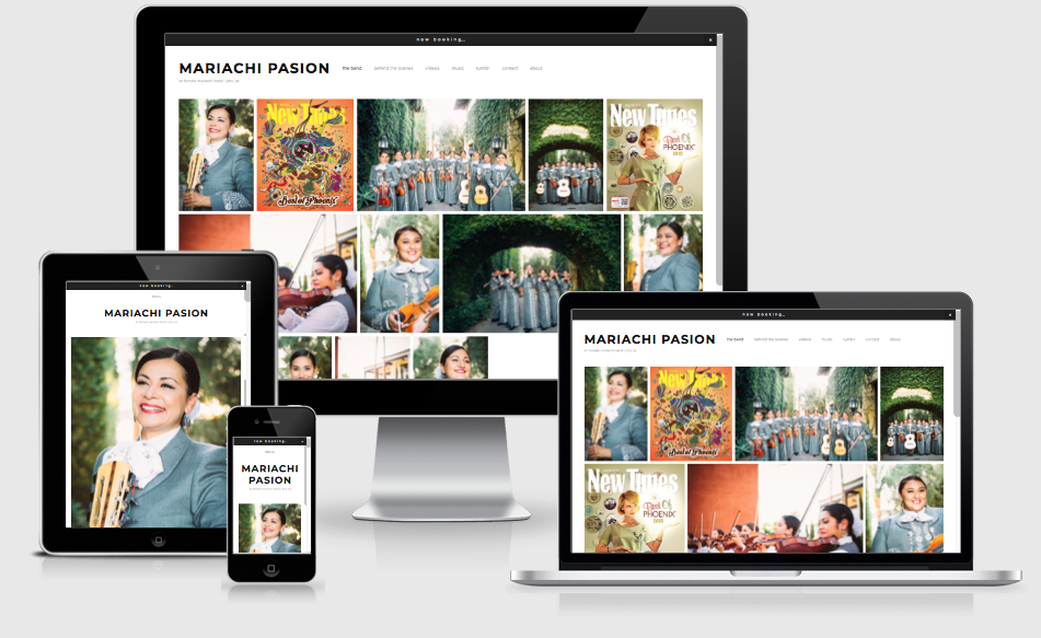 mariachi pasion webdesign by the artist playbook