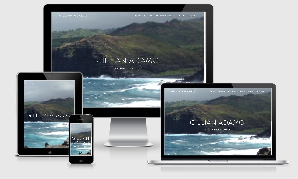 Gillian Adamo | healer maui web design by the artist playbook