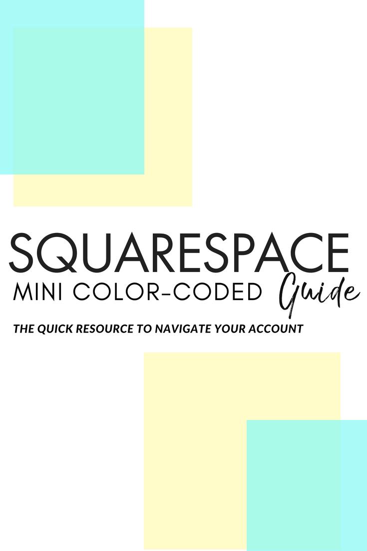 Squarespace mini color-coded guide