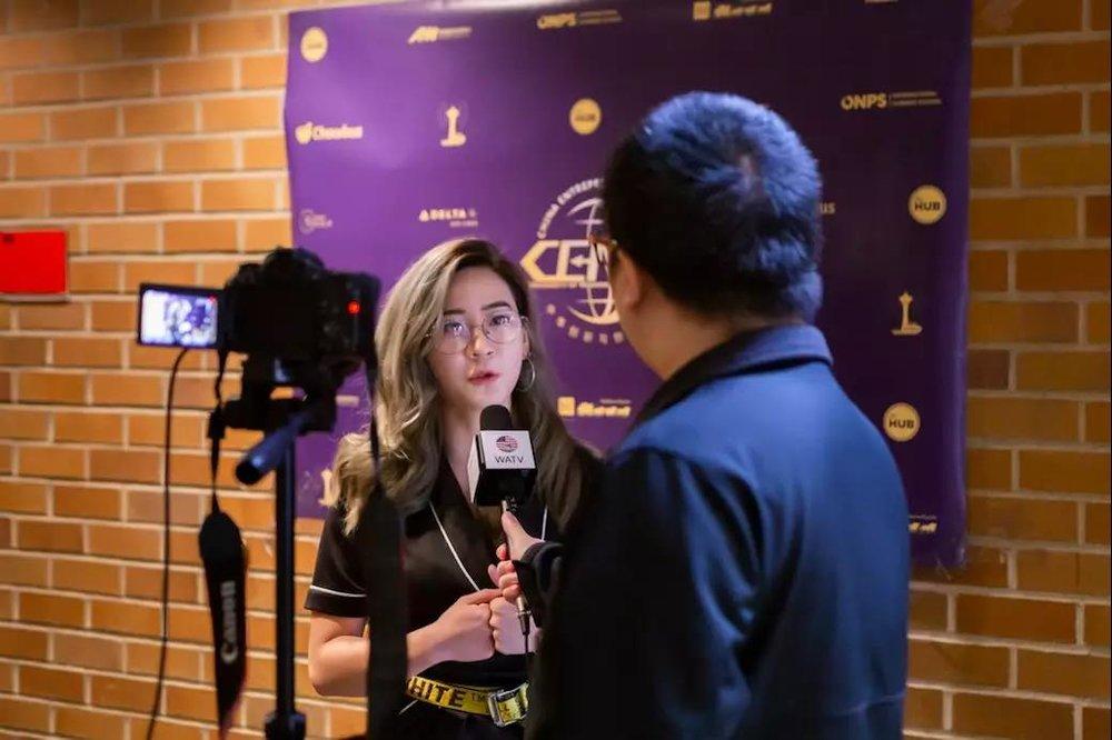 CENUW主席Jackie接受媒体采访