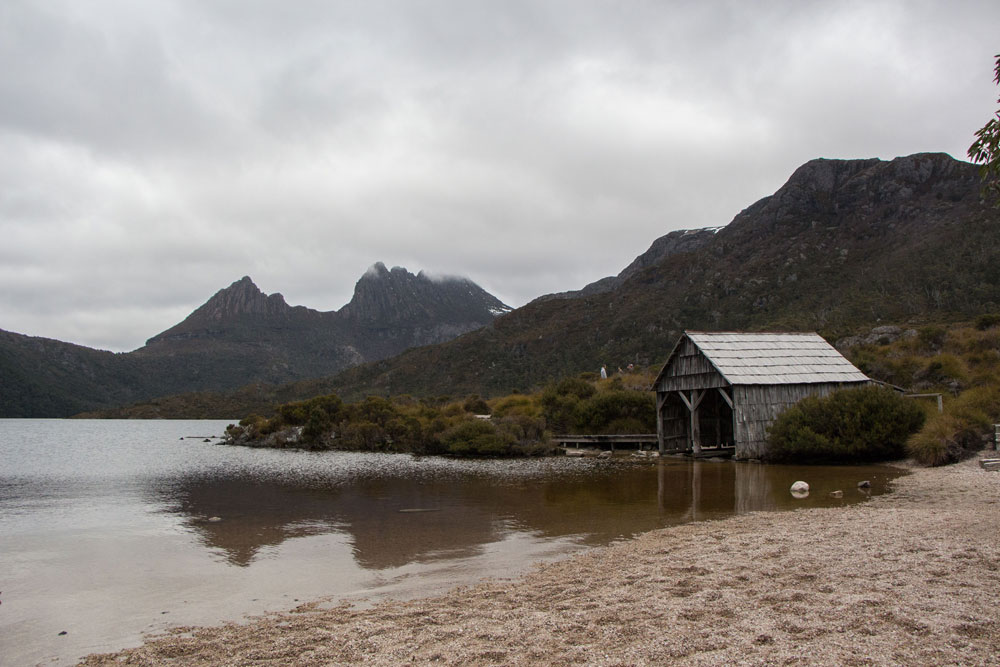 Dove Lake Cradle Mountain Hut Tasmania Australia