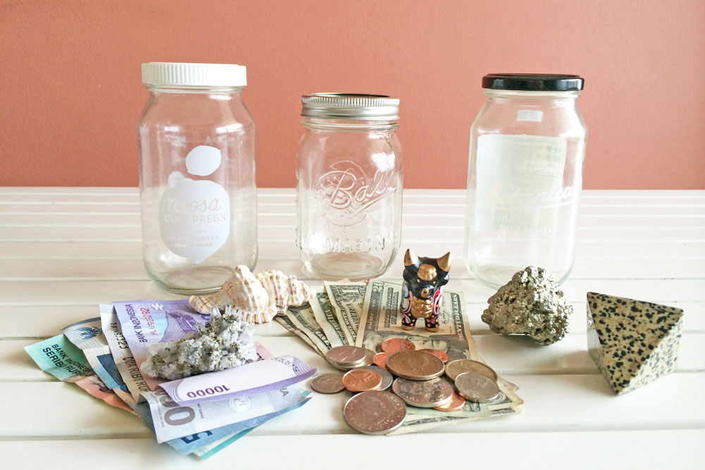 DIY Travel Souvenir Glass Jars and Mister Weekender