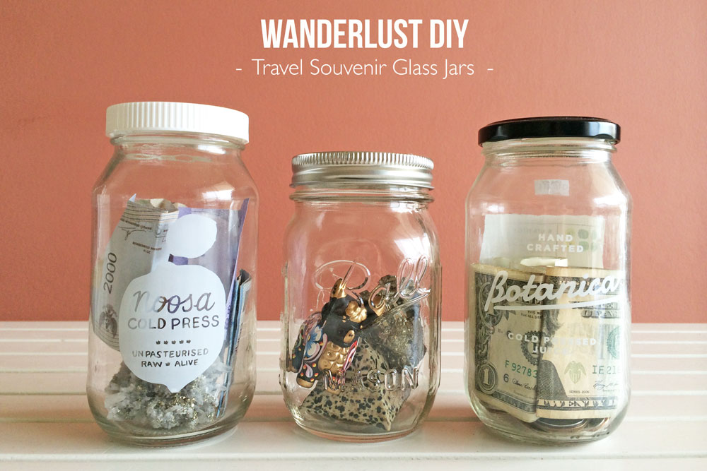 Wanderlust DIY Travel Souvenir Glass Jars and Mister Weekender