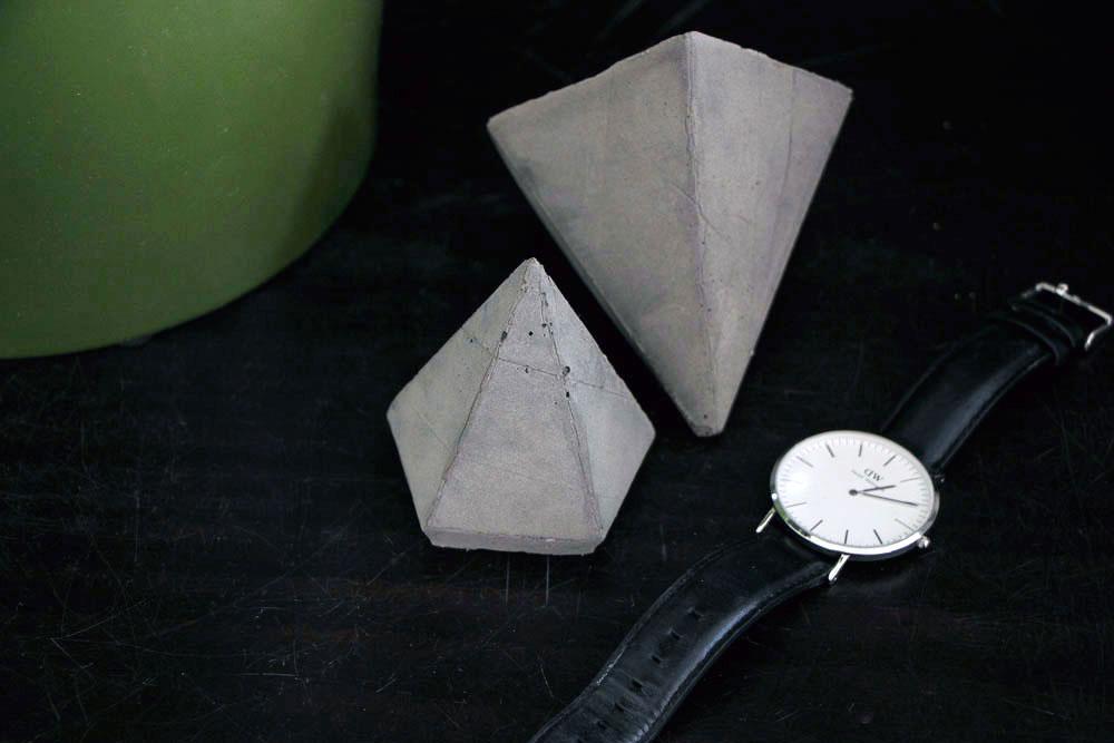 DIY Concrete Diamond Ornament