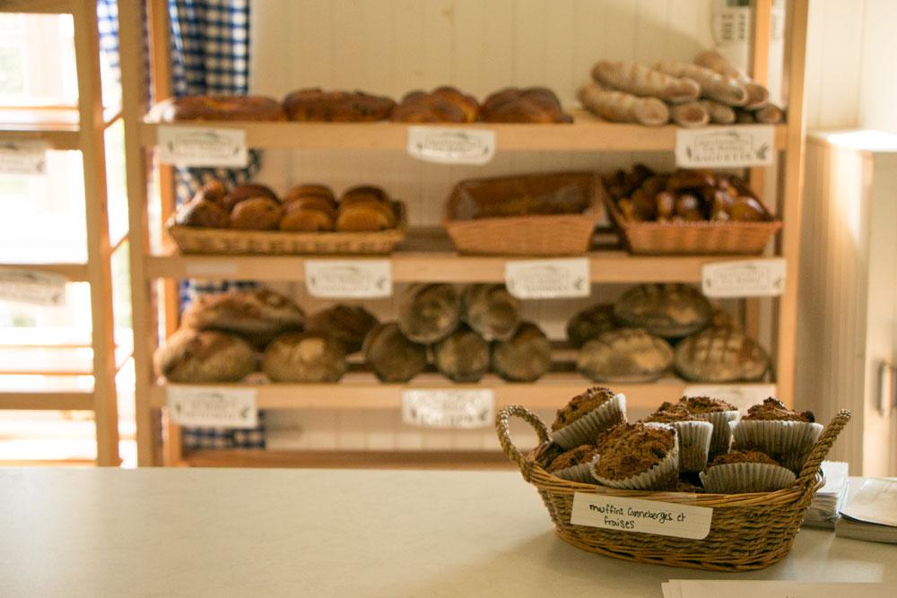 Enjoying fresh local bread on The Flavour Trail
