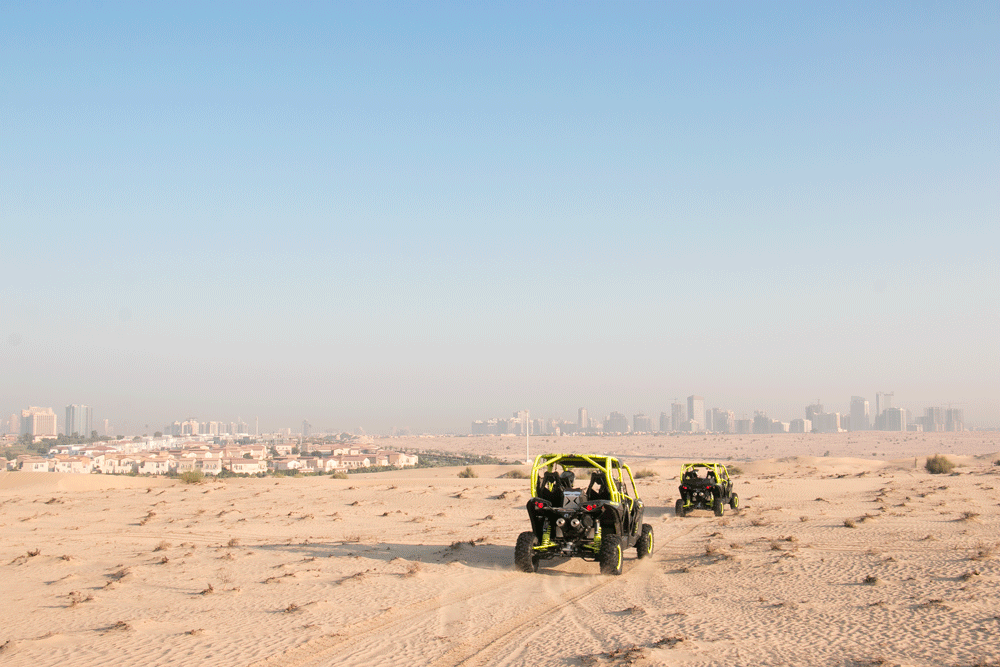 quad biking in the dubai desert
