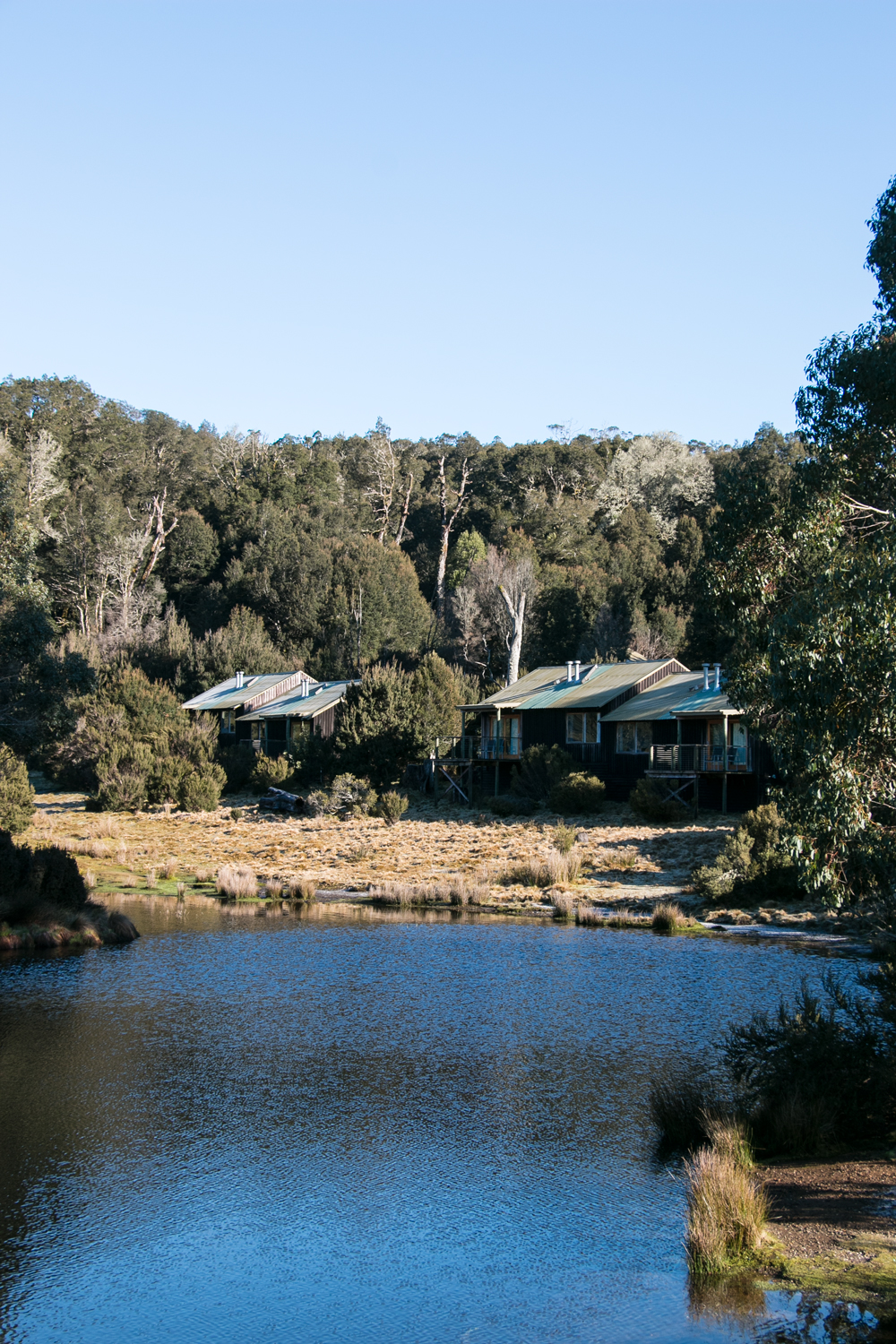 Enjoying the warm cosy nights at Cradle Mountain Lodge